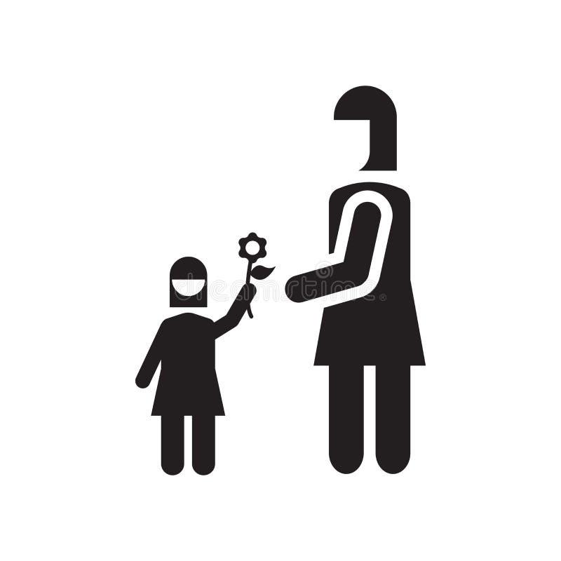 Donnez le signe de vecteur d'icône de fleur et le symbole d'isolement sur le fond blanc, donnent l'icône de concept de logo de fl illustration libre de droits