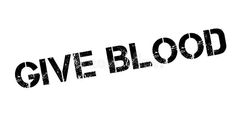 Donnez le tampon en caoutchouc de sang illustration de vecteur