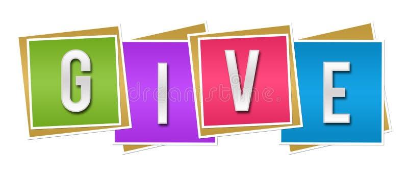 Donnez les blocs colorés illustration libre de droits