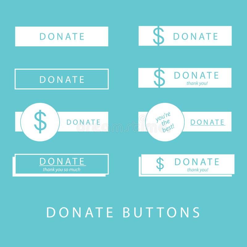 Donnez les boutons illustration libre de droits