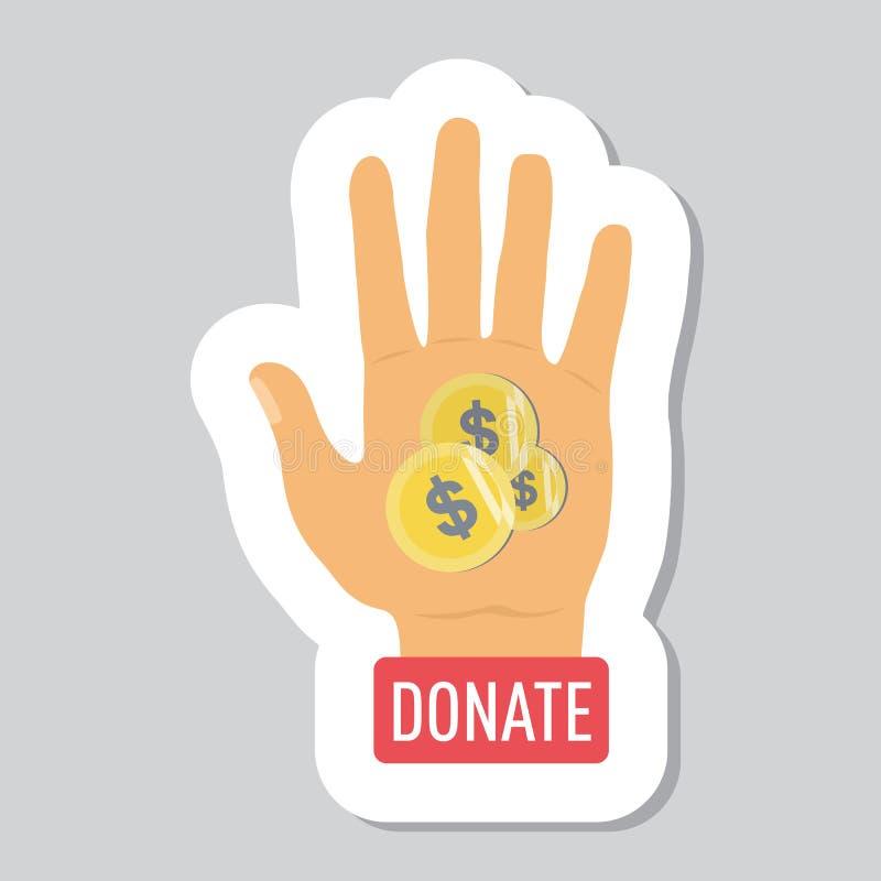 Donnez les boutons réglés Donation d'icône d'aide illustration libre de droits