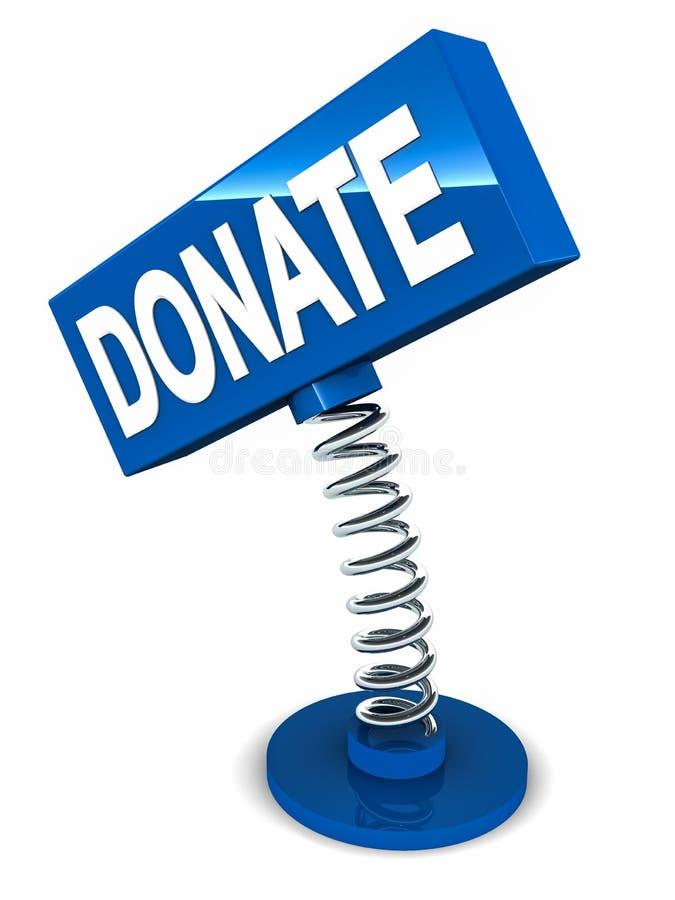 Donnez pour la charité illustration de vecteur