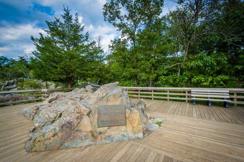 Donnez sur de Great Falls à l'île d'Olmsted chez le chesapeake et l'Ohio C photos stock