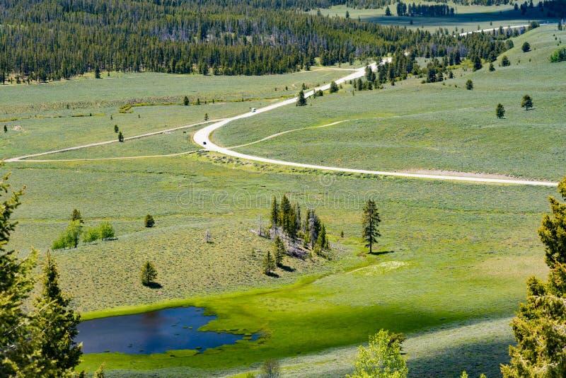 Donnez sur sur le chemin détourné scénique de dent de scie, Idaho photographie stock libre de droits