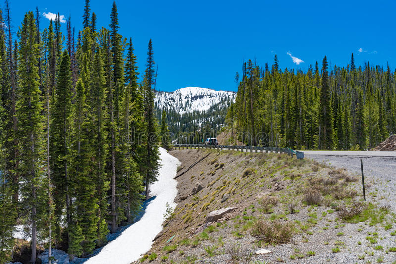 Donnez sur sur le chemin détourné scénique de dent de scie, Idaho image stock