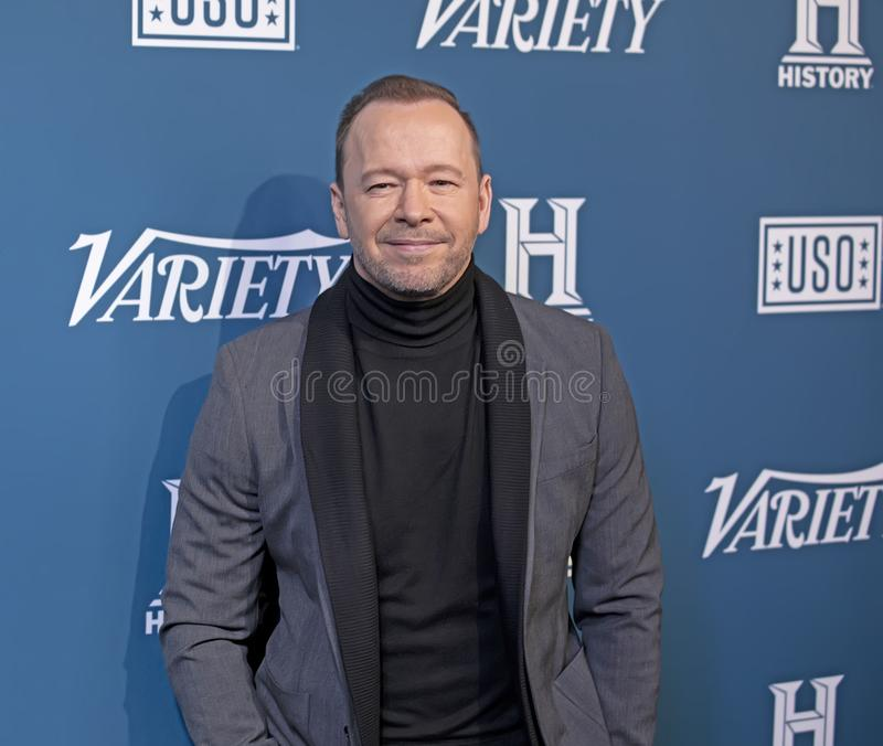 Donnie Wahlberg at the 3rd Annual Salute to Service royalty free stock photo