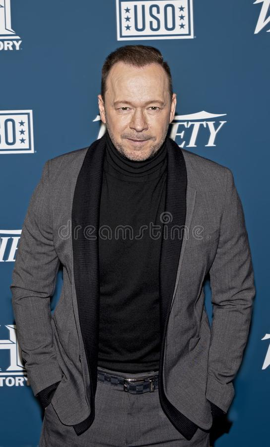 Donnie Wahlberg  at Variety 3rd Annual Salute to Service Event stock images