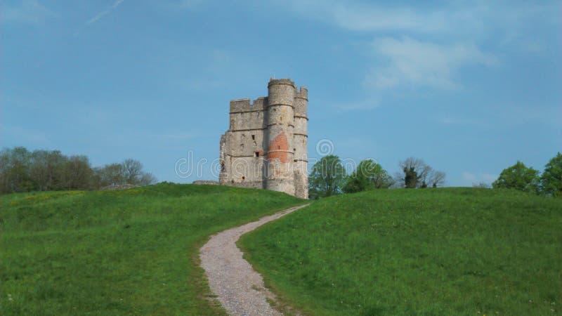 Donnington castle stock photo