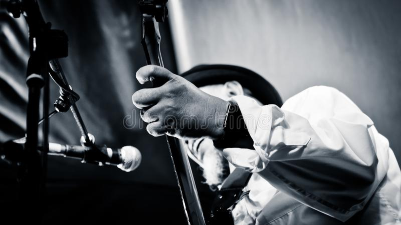 Donny Suhendra,爵士乐音乐家 库存图片