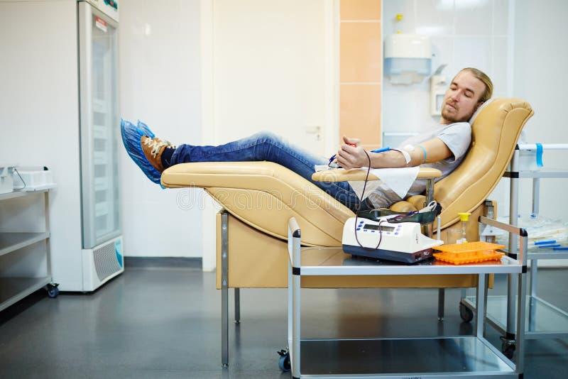 Donor van bloed stock fotografie