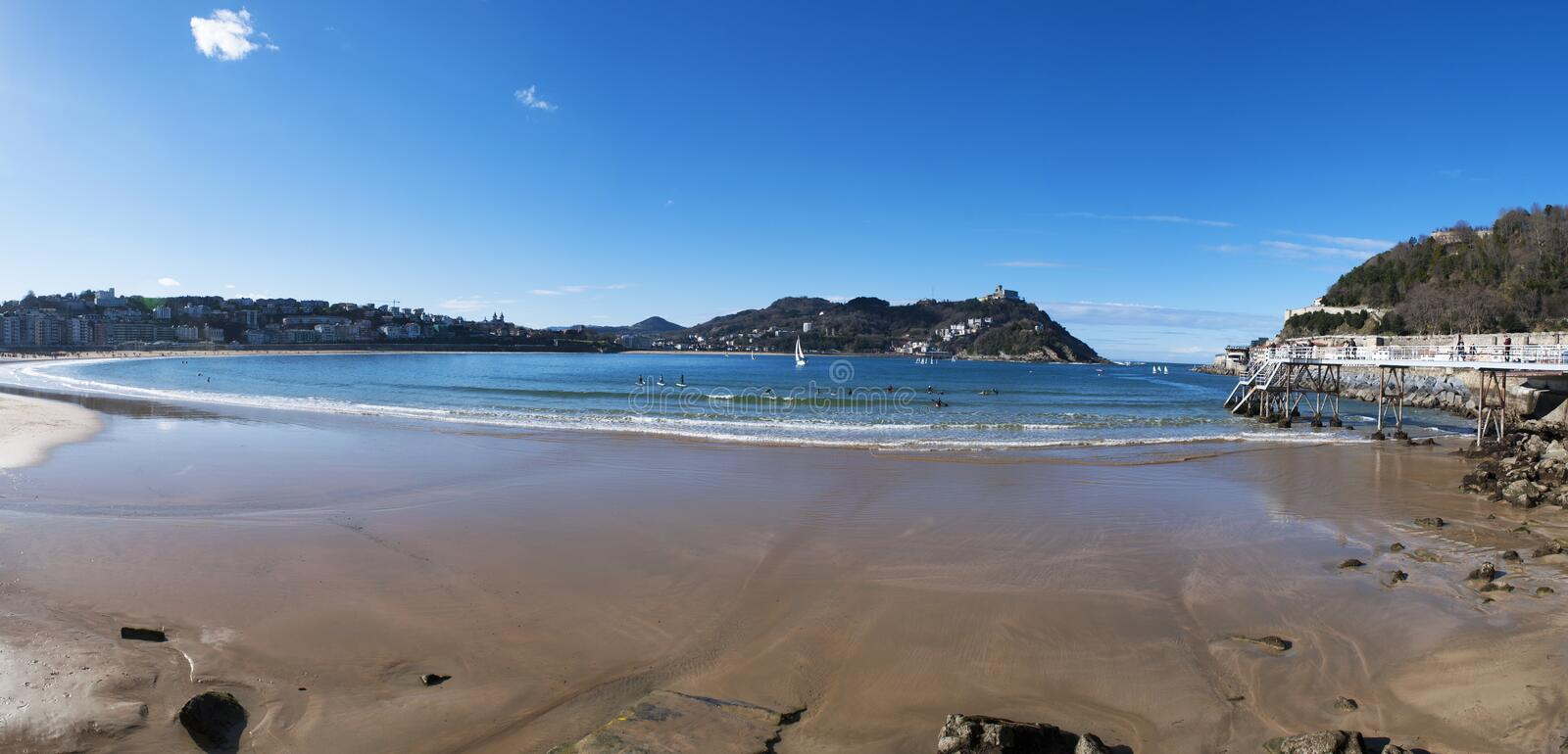 Donostia, San Sebastian, Golfe de Gascogne, pays Basque, Espagne, l'Europe photo stock