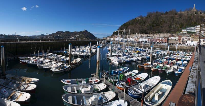 Donostia, San Sebastian, Golfo da Biscaia, país Basque, Espanha, Europa imagens de stock royalty free