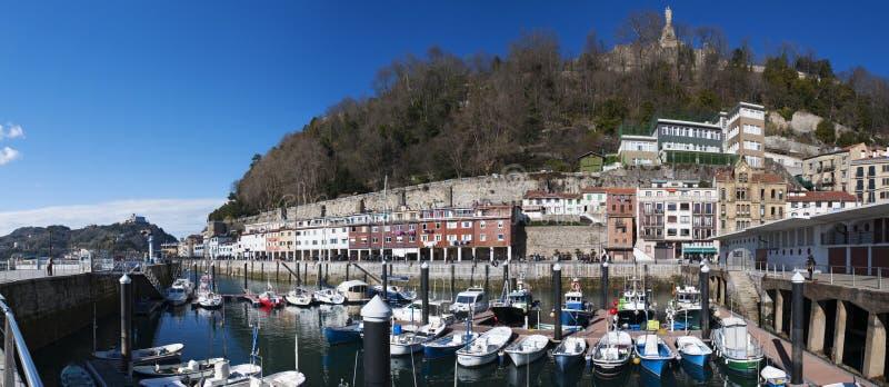 Donostia, San Sebastian, Golfo da Biscaia, país Basque, Espanha, Europa imagem de stock