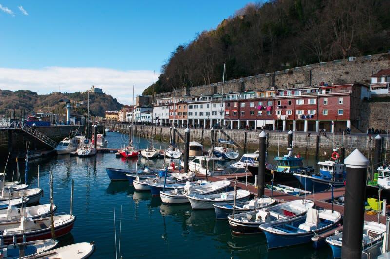 Donostia, San Sebastian, Golfo da Biscaia, país Basque, Espanha, Europa imagens de stock