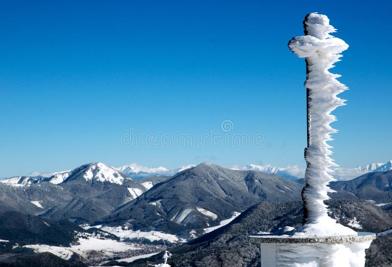 Donovaly.   View of the Low Tatras from Donovaly royalty free stock photography