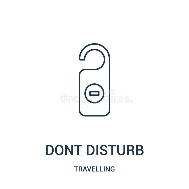 dont disturb icon vector from travelling collection. Thin line dont disturb outline icon vector illustration. Linear symbol stock illustration