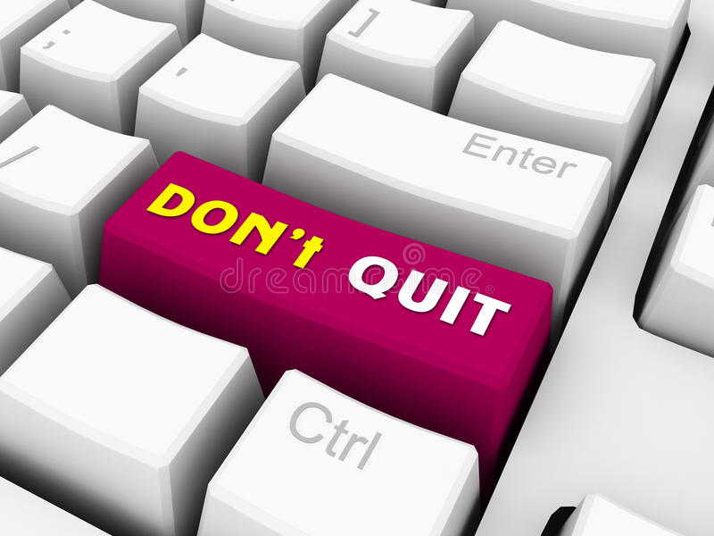 Dont give up. On red keyboard button royalty free illustration