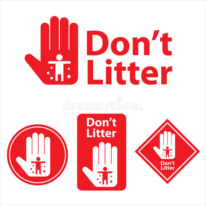 Dont litter icon. This is dont litter icon design. Vector file stock illustration