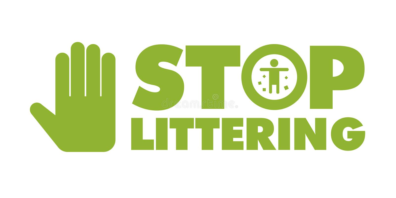 Dont litter sign. This is dont litter sign design. file stock illustration