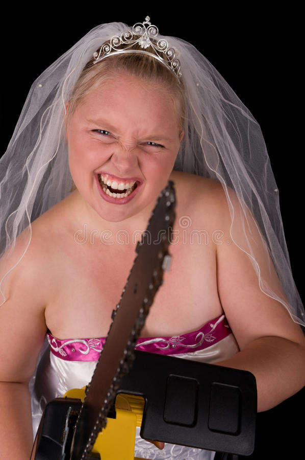 Dont Mess With The Bride royalty free stock photo