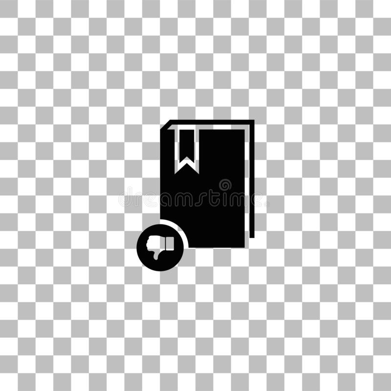 Dont read book icon flat. Dont read book. Black flat icon on a transparent background. Pictogram for your project vector illustration