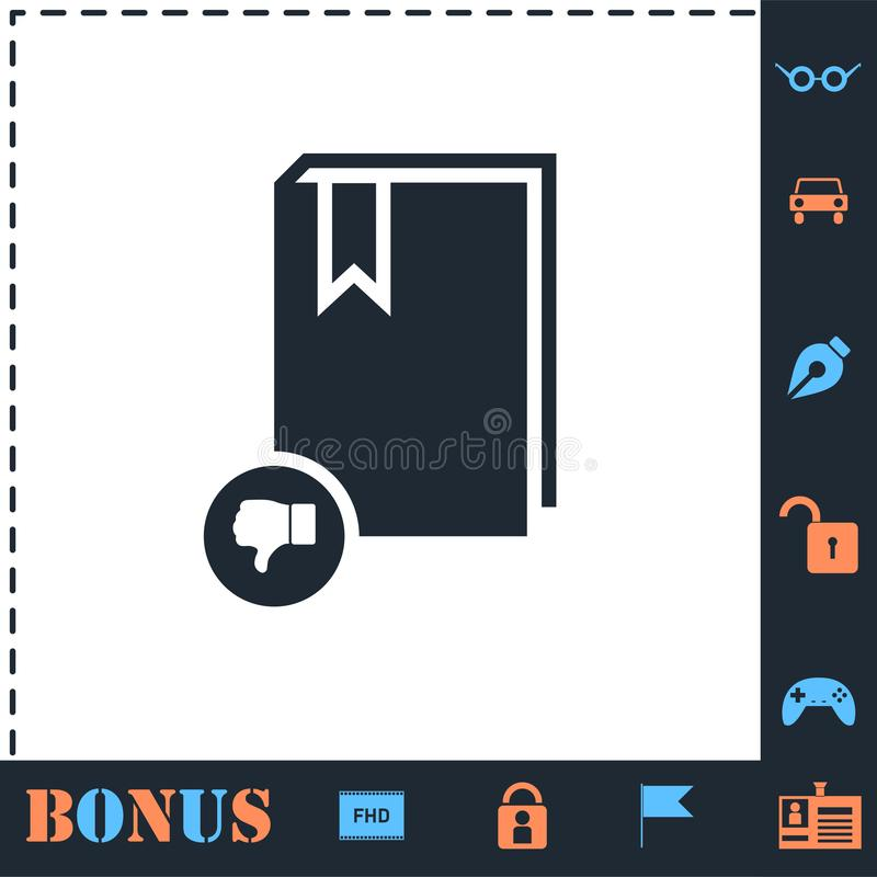 Dont read book icon flat. Dont read book. Perfect icon with bonus simple icons stock illustration