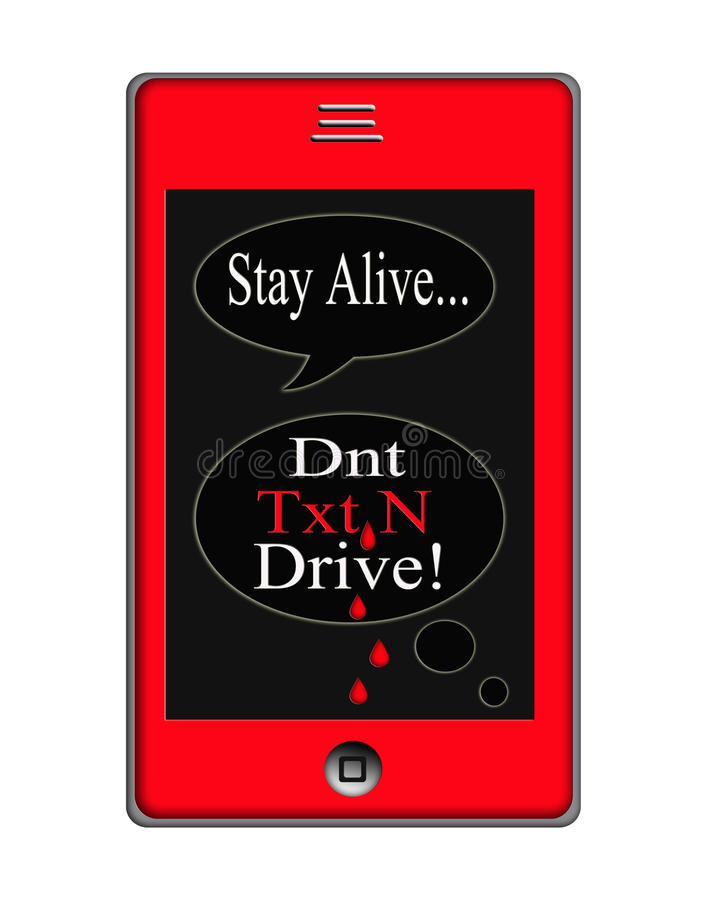 Dont Text and Drive Concept stock illustration