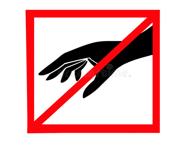Download Dont touch stock image. Image of pictogram, prevent, warning - 21131647