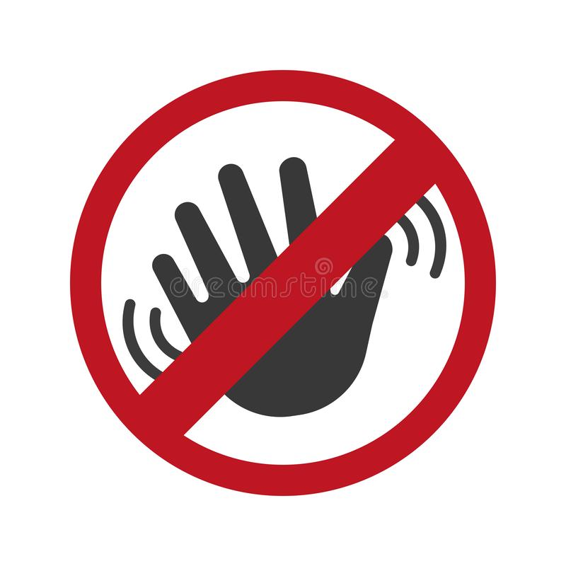 Dont touch icon vector. Illustration concept image icon royalty free illustration