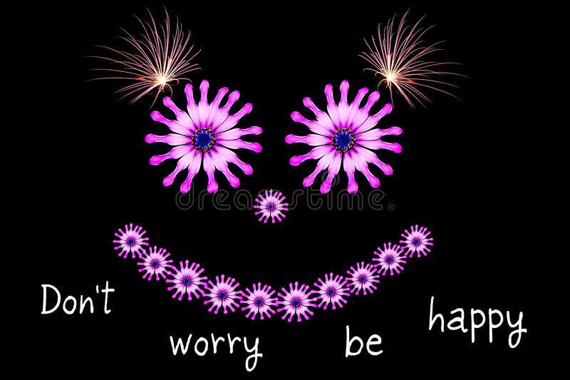 Download Dont Worry Be Happy Message Concept Stock Photo - Image of optimist, concern: 32370924