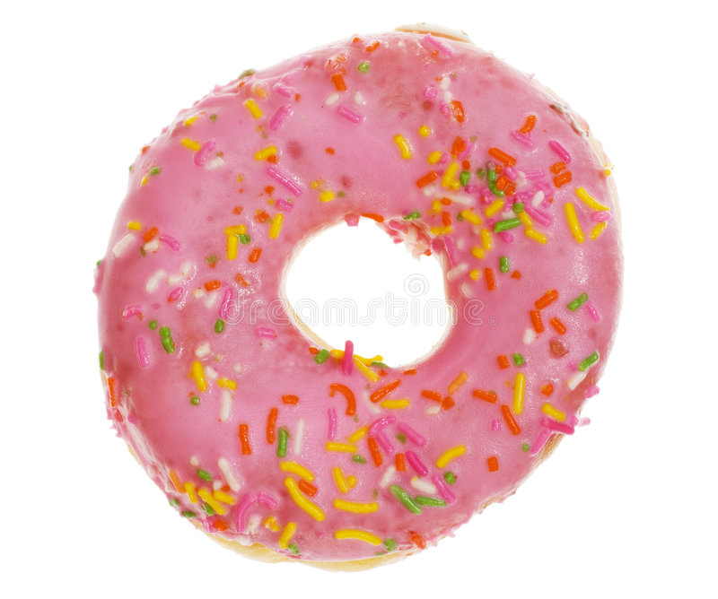 Donut. Colorful donut isolated on white background stock photos