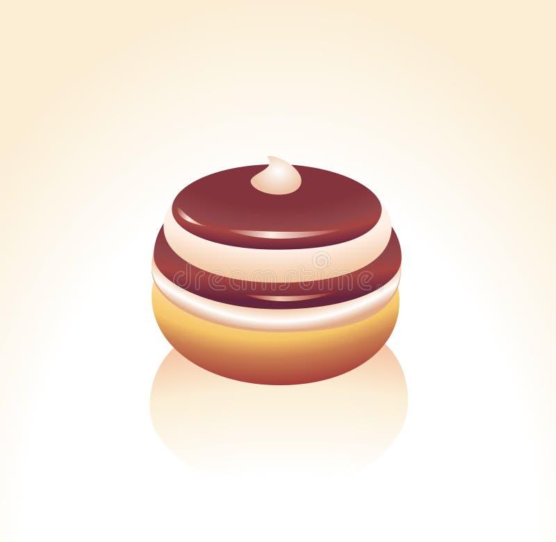 Download Donut stock vector. Image of circle, doughnut, candy, dough - 7273151