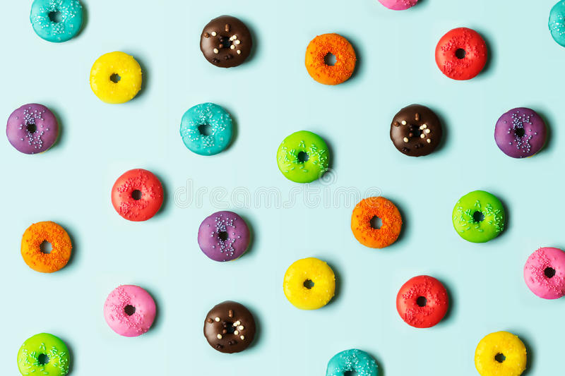 Donut background stock photography