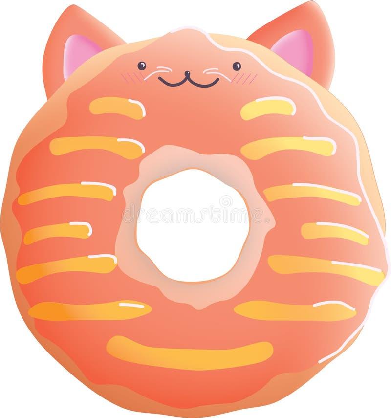 Donut cat illustration stock photography