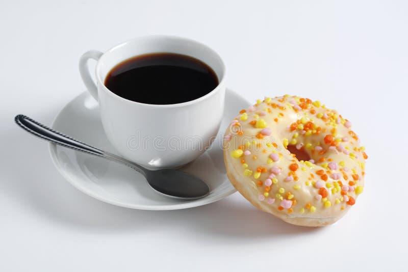 Donut e caffè fotografie stock