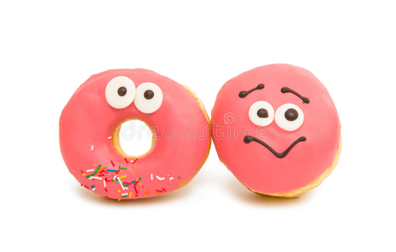 Donut in glaze stock photo