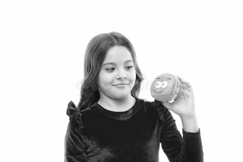 Donut ihre s??e Obsession Gl?ckliche Kindheit und s??e Festlichkeiten Donut, der Di?tkonzept bricht Glasig-gl?nzender Donut des M stockfotos