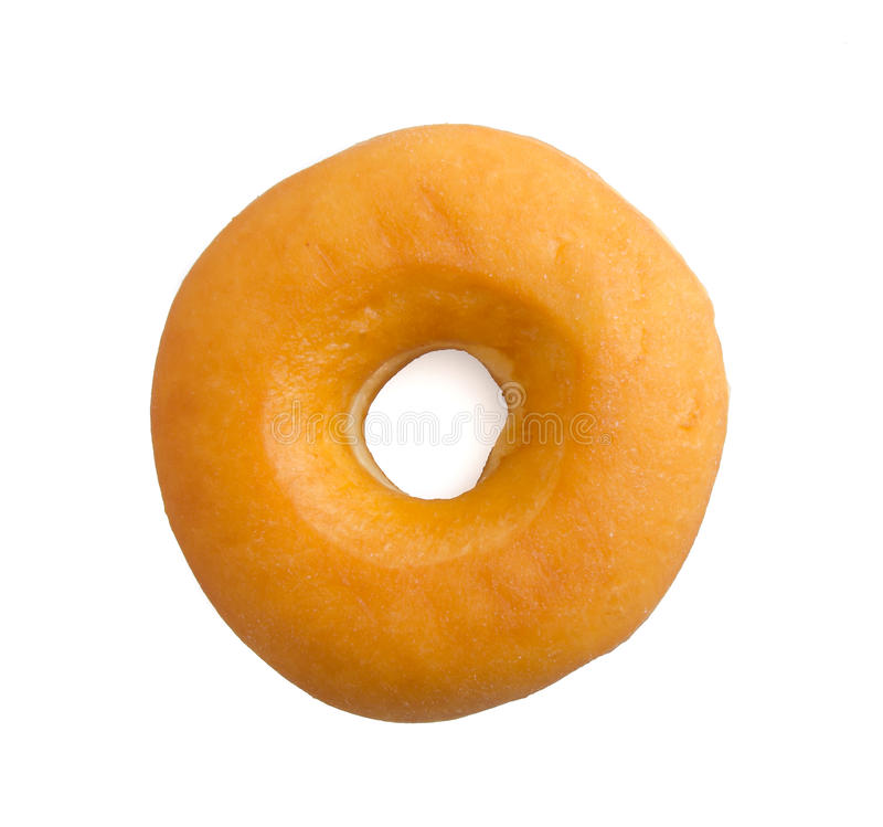 Donut isolated on white royalty free stock photo