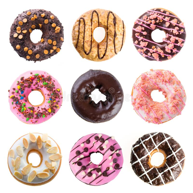 Donut or donut isolated on white background new stock photos