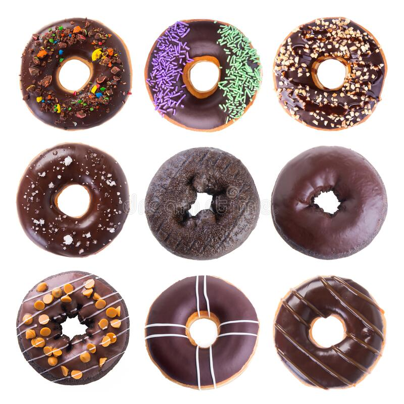 Donut or donut isolated on white background new royalty free stock image