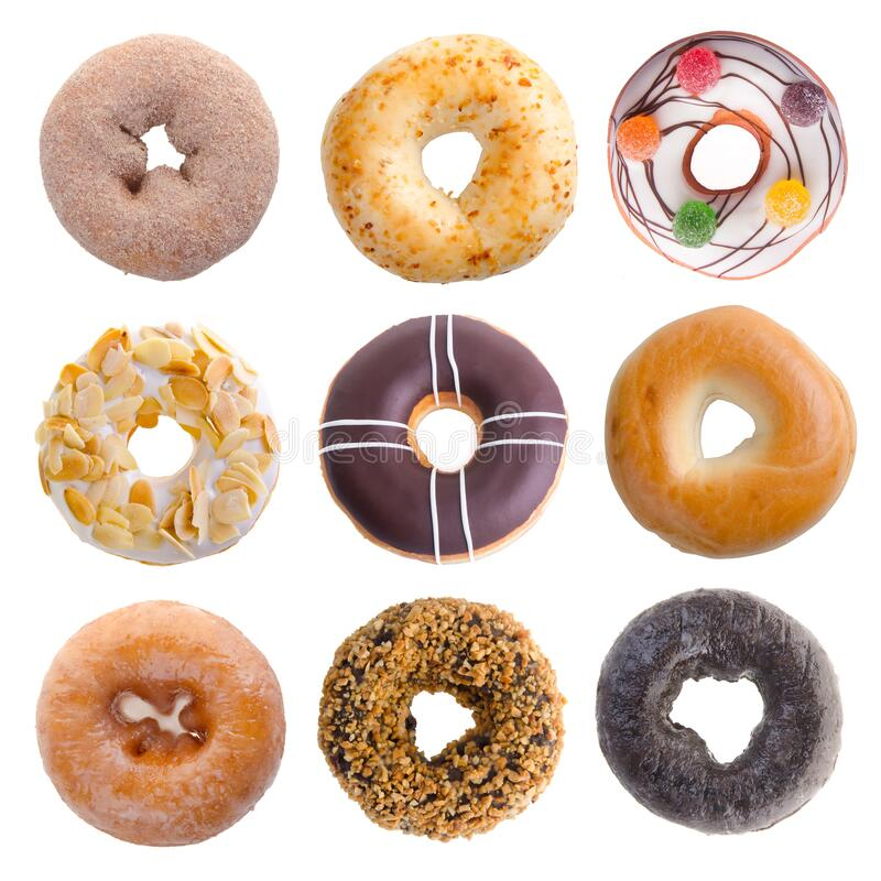 Donut or donut isolated on white background new stock image