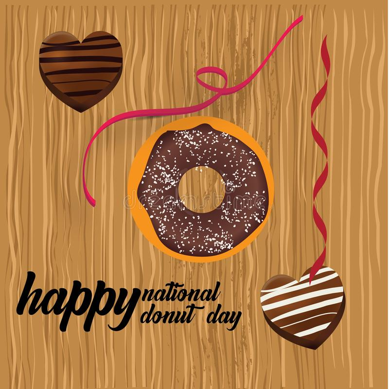 Donut-Nationaltag-Illustration - Vektor lizenzfreie abbildung