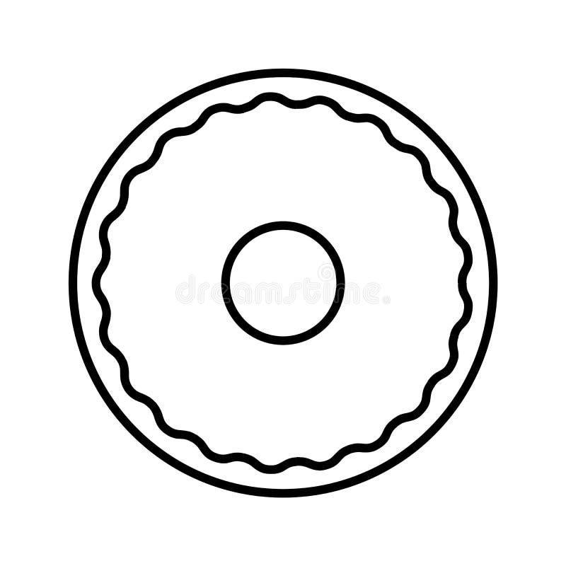 Donut outline icon stock vector. Illustration of dessert ...