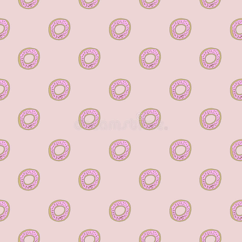 Donut Seamles Repeat Pattern Royalty Free Stock Image vector illustration