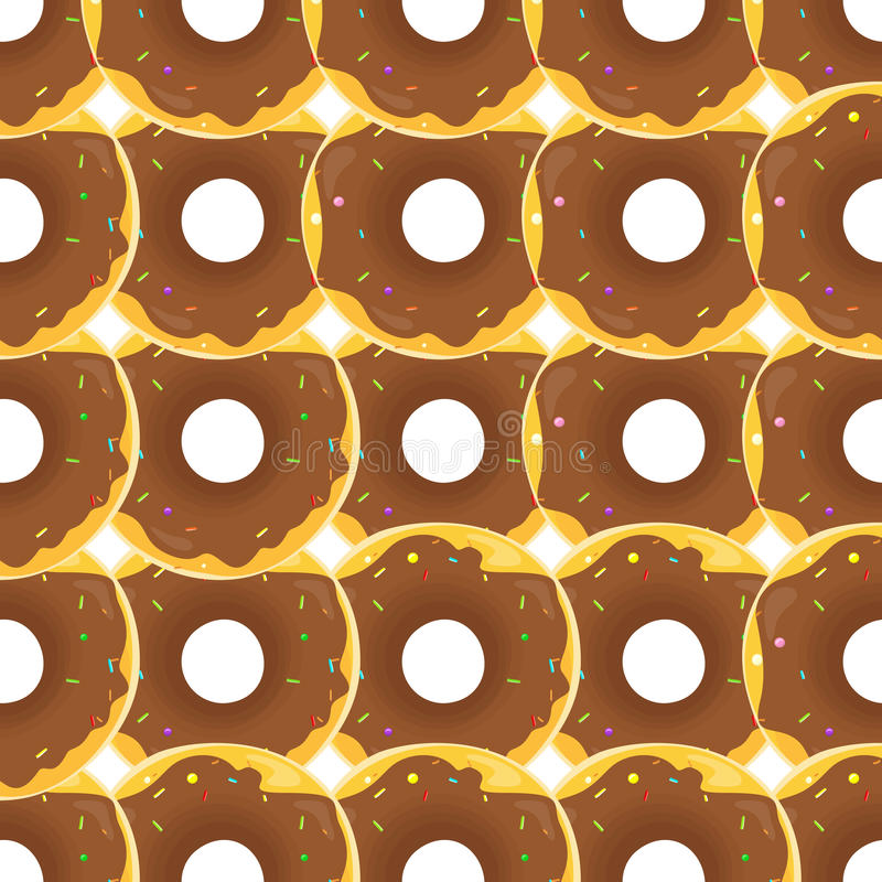 Donut Seamless Background Texture Pattern. Cute donuts with glazing. Seamless pattern. Delicious donut glazed. Donut pattern. Vector donuts pattern. Chocolate royalty free illustration
