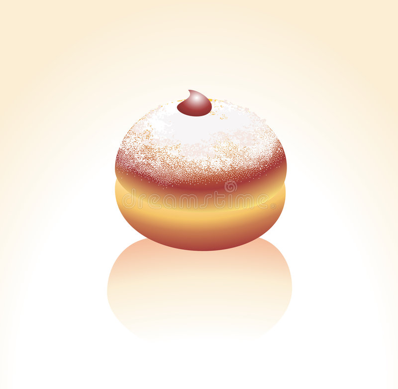 Download Donut, Sprinkled With A Sugar Powder Royalty Free Stock Photos - Image: 7273138