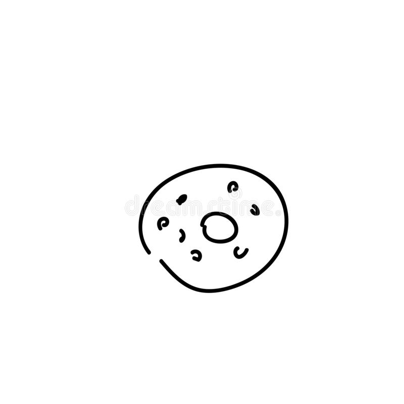 Donut with sprinkles isolated on white background stock illustration