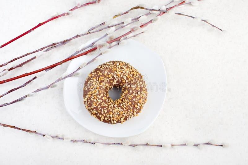 Donut- und Weidenniederlassungen stockbilder