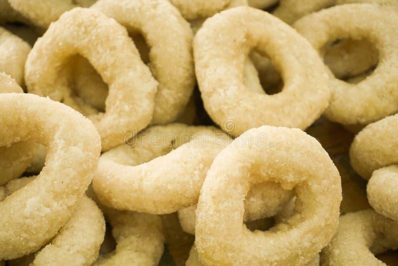 Donutdonutabschluß oben mit einfachem Geschmack mit weißer Farbe stockfoto