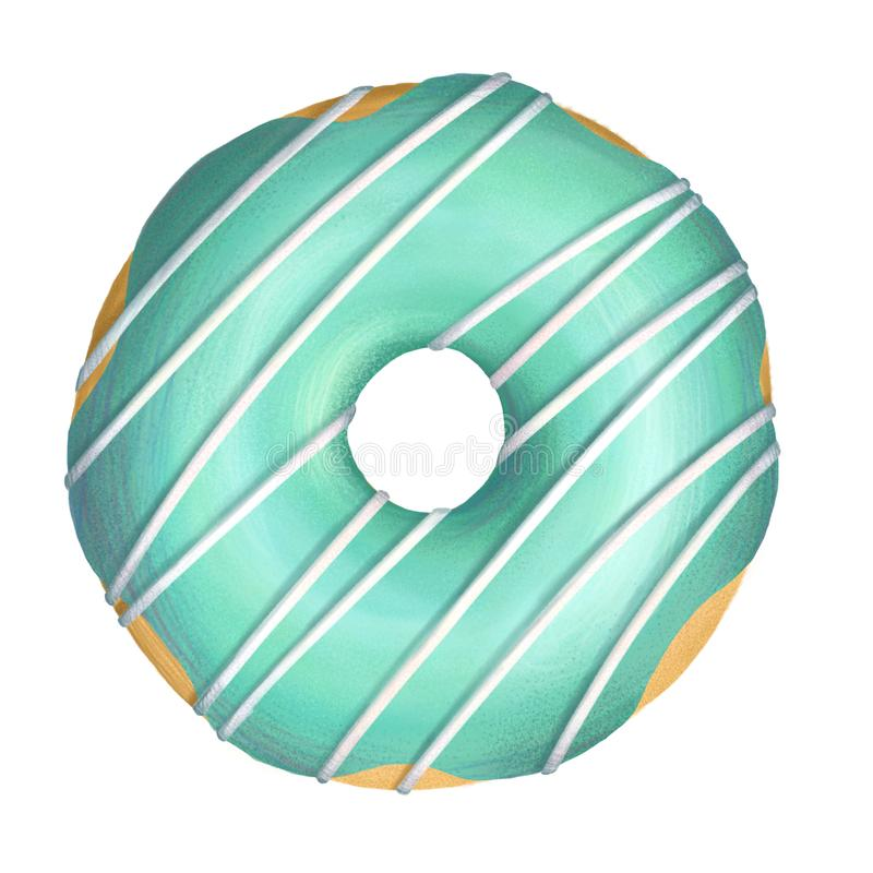 Donutgrünglasur lizenzfreie stockfotografie